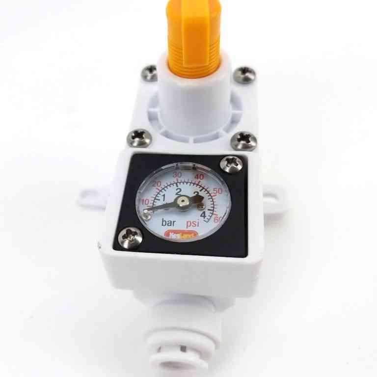 Inline Regulator With Integrated Gauge For Water Gas 8mm (5/16