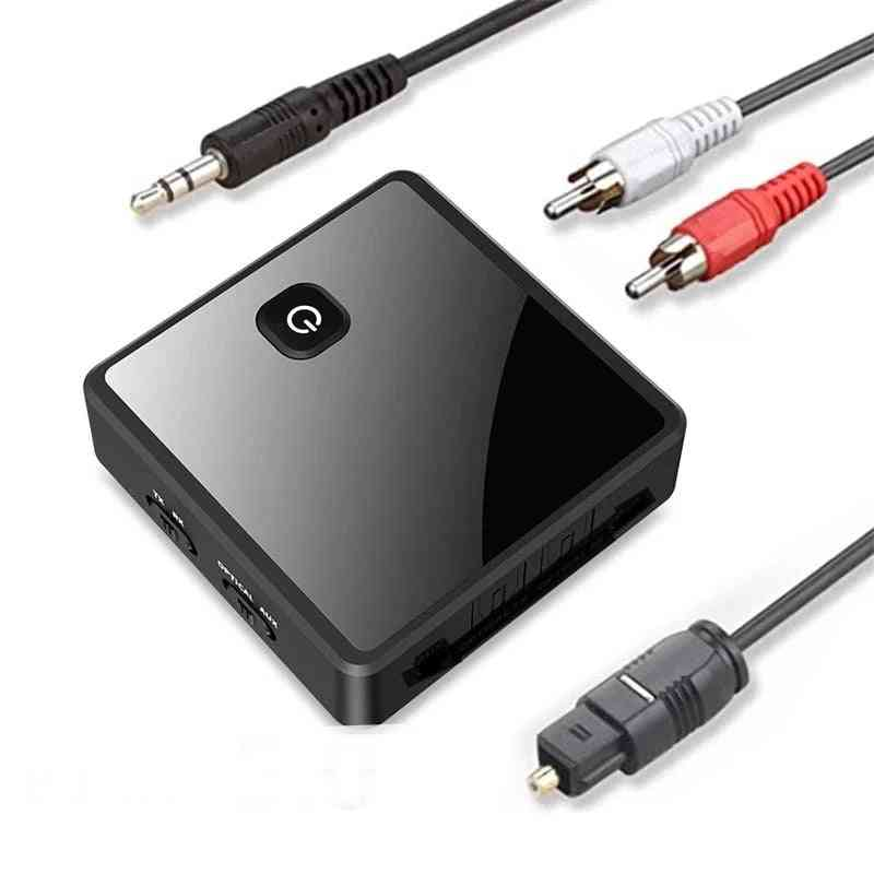 Bluetooth 5.0 Transmitter Receiver, Jack Optical Stereo Music Wireless Audio Adapter