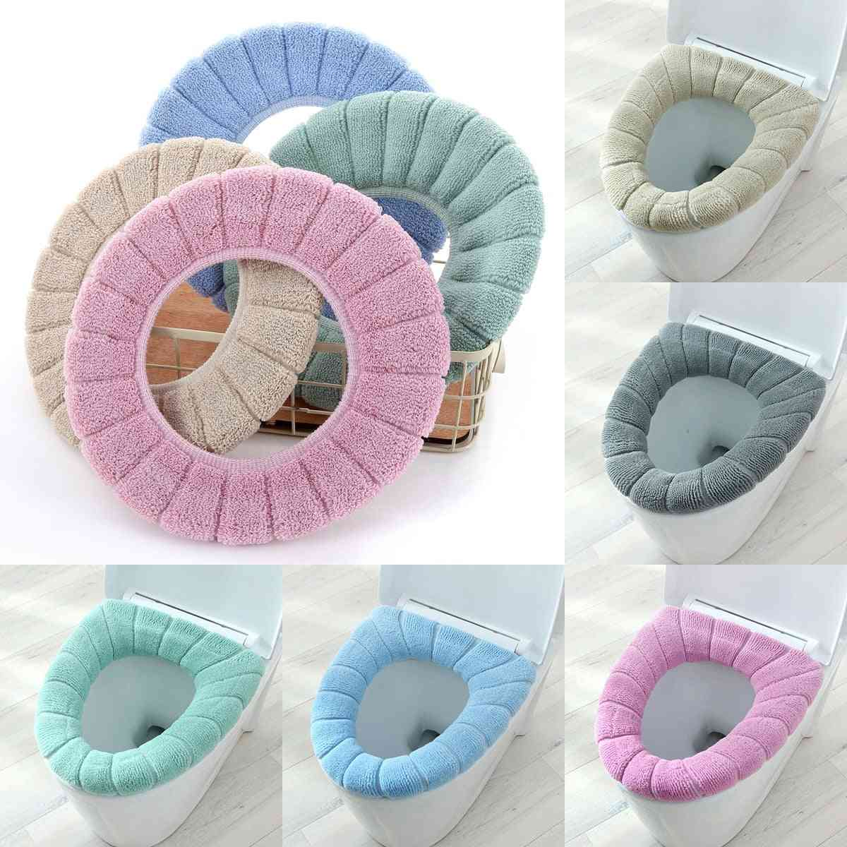 Winter Warm Toilet Seat Cover Mat Washable Bathroom Accessories