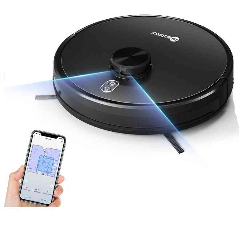 4000pa Laser Navigation Robot Vacuum Cleaner, App Virtual Wall, Breakpoint Cleaning
