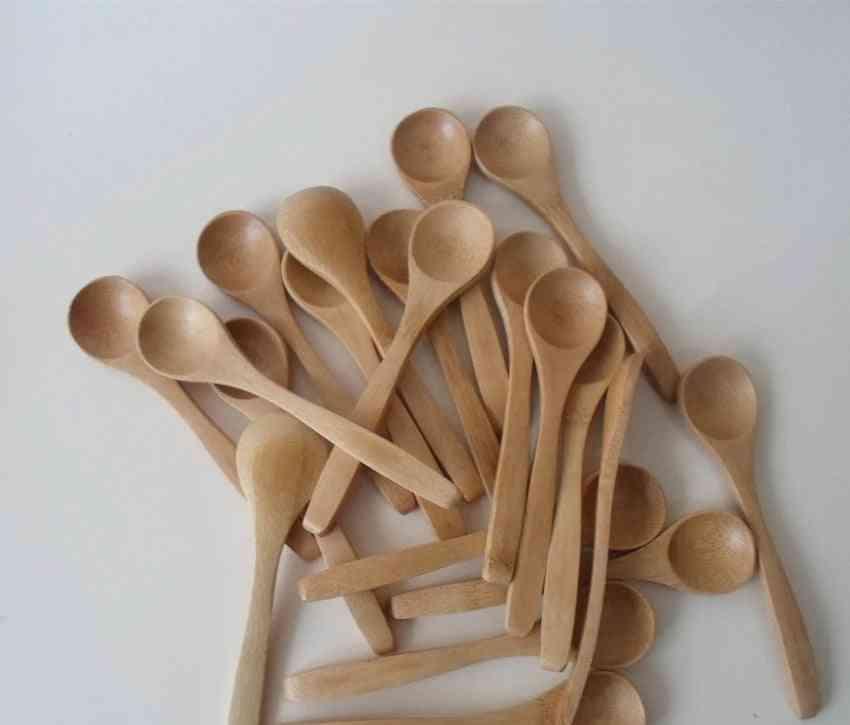 Tableware Bamboo Scoop Coffee Honey Tea Stirrer Wooden Spoon