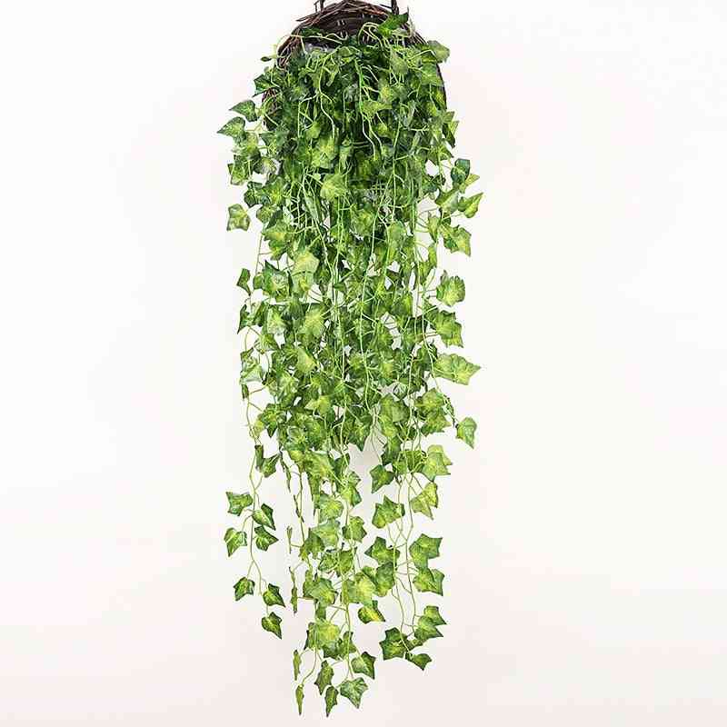 90cm Artificial Green Plants Hanging Ivy Leaves Radish Seaweed Grape Fake Flowers Home Decoration