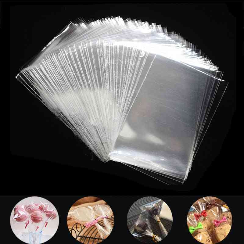 Transparent Plastic Bags For Candy Lollipop Cookie Packaging Cellophane Christmas Party