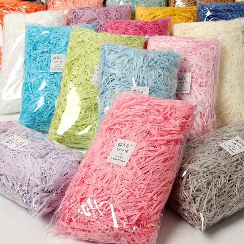 Colorful Shredded Crinkle Paper Raffia Candy Boxes Diy Box Filling Material Wedding Decoration