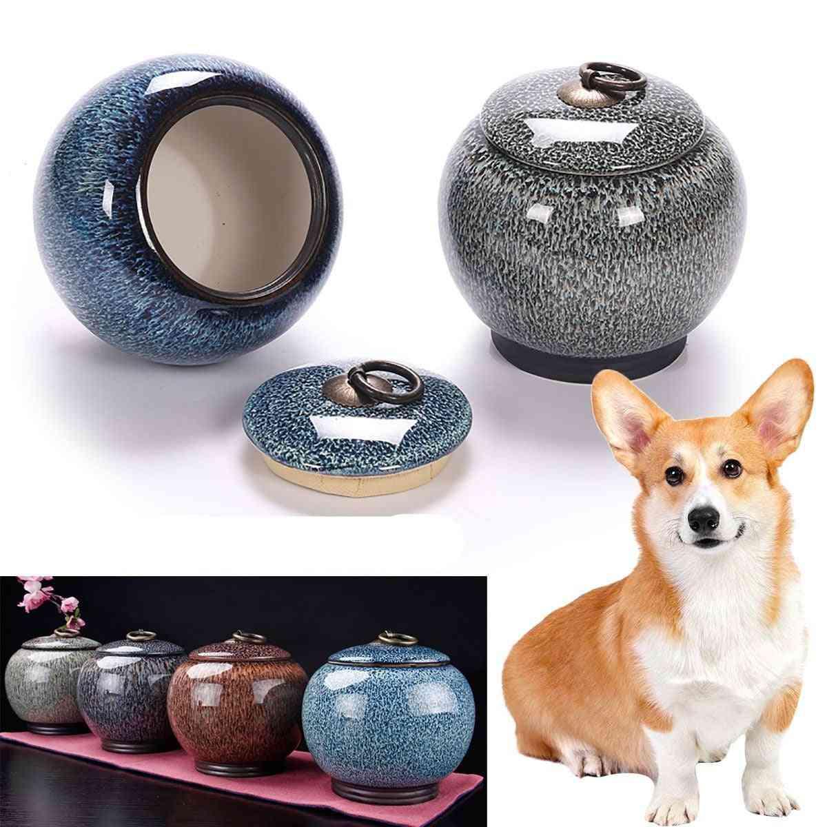 Cremation Pet Ashes, Ceramics Memory Pal, Urns Casket Holder For Dog, Cat Bird