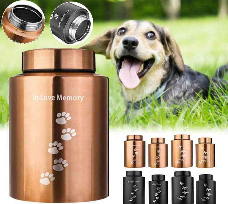 Pets  Cremation Ashes Urn Stainless Steel Storage Tank