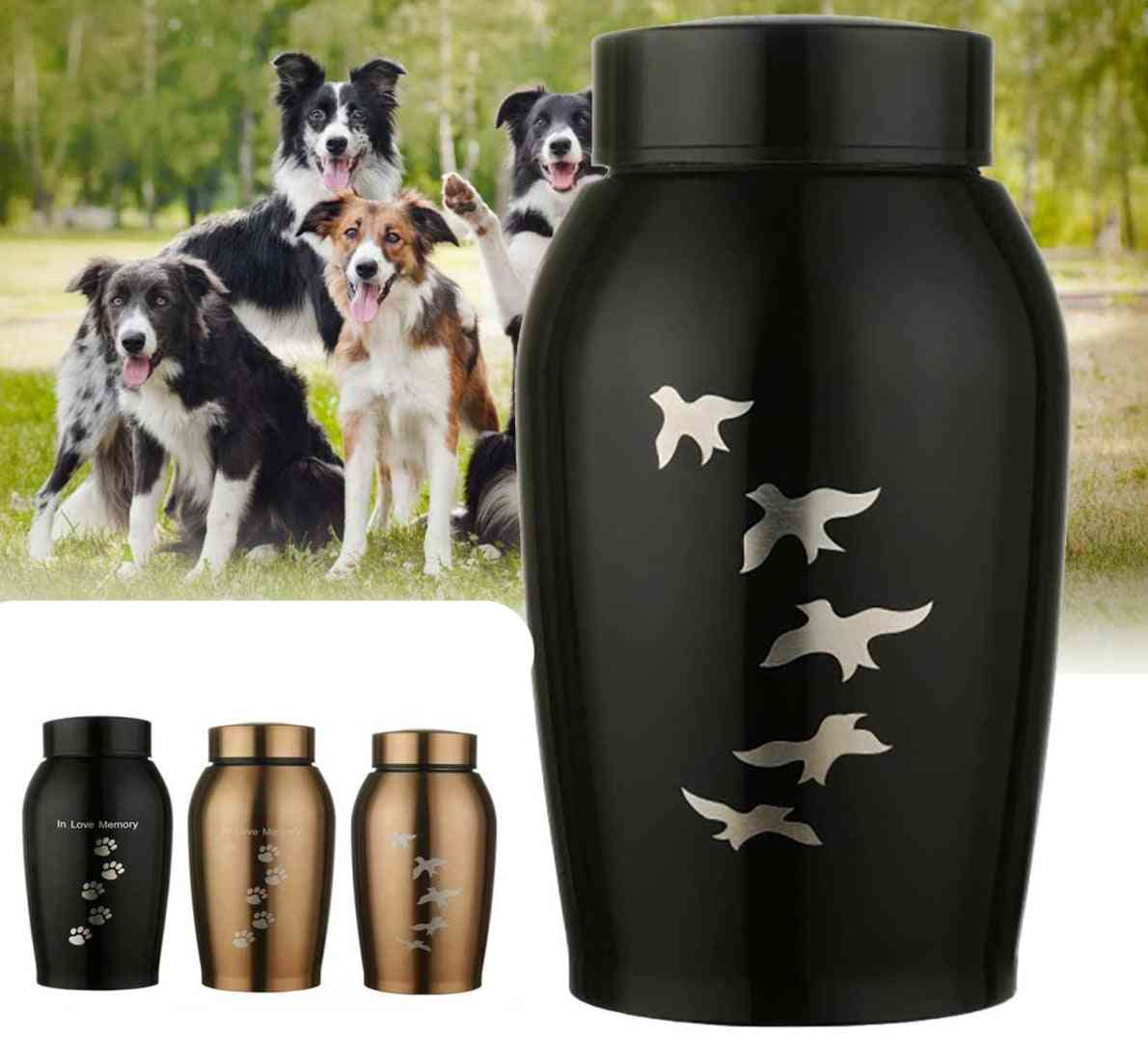 Memorials Urns- Pets Dog & Cat Birds, Paw Print Cremation
