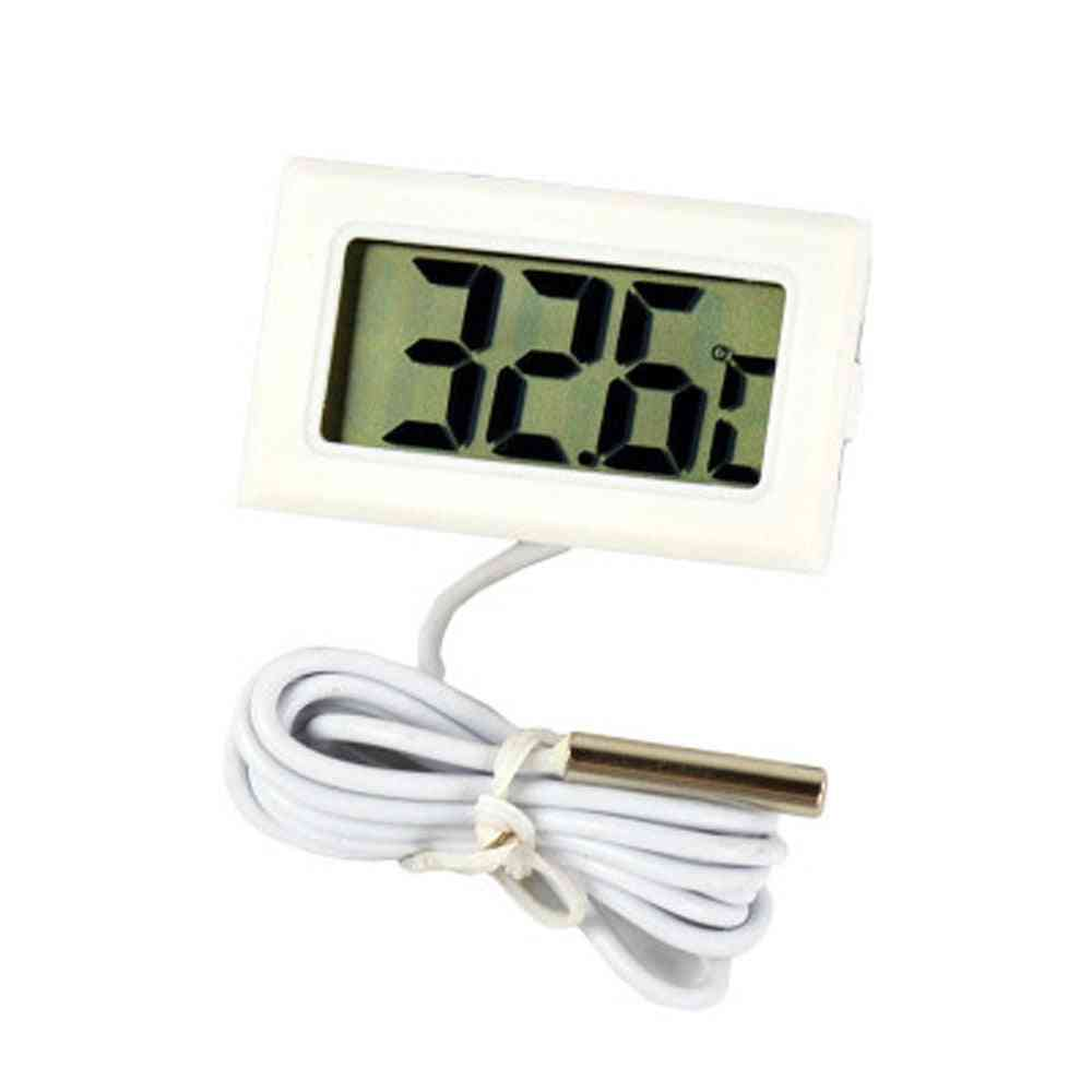 Mini Digital Lcd Probe Thermometer- Fish Tank, Temp Meter