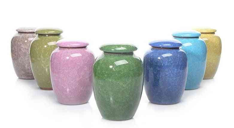 Urns Cremation, Caskets Funeral Vase, Human Ceramics, Hand Painted For Dog, Pet
