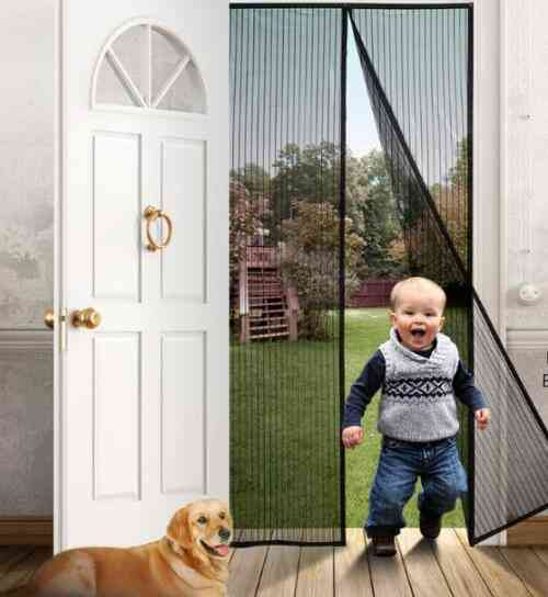 Curtain Magnetic Door Mesh Insect Sandfly Netting With Magnets Mosquito Repeller