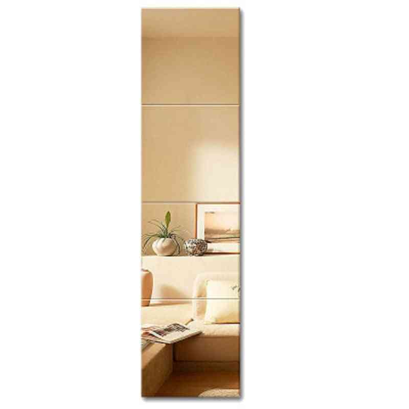 4pcs Pasted On Wall Spliced Art Decoration, Dressing Mirror