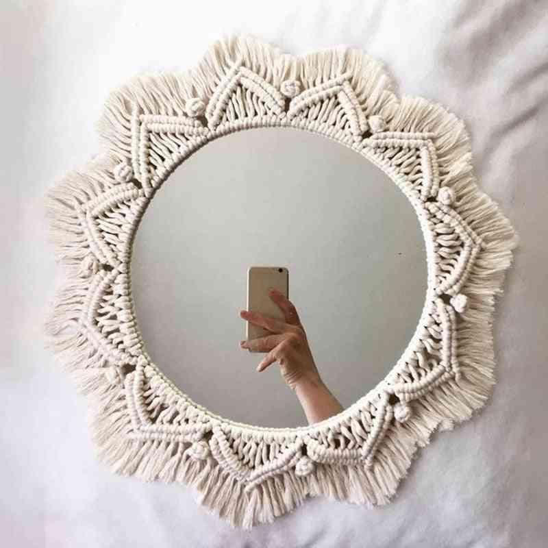 Home Decor Handmade Tapestry Makeup Mirror