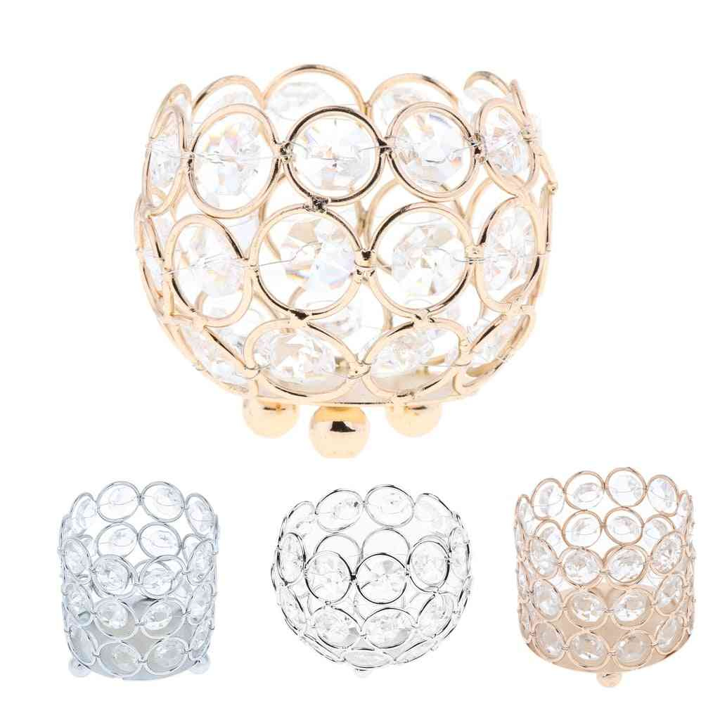 Crystal Tealight, Candle Lantern Holders Candlesticks For Home Decors
