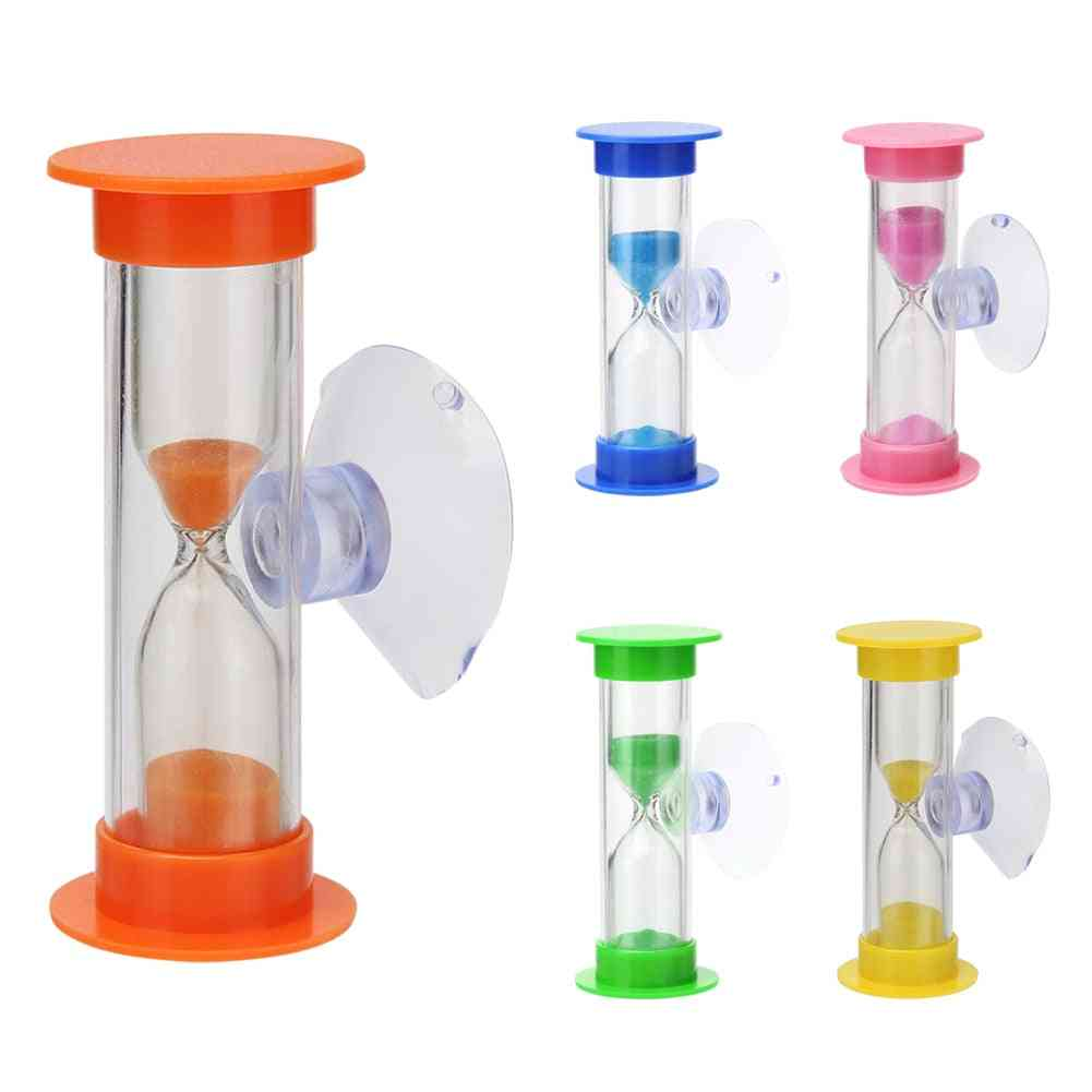 Children Teeth Brushing Timer With Suction Cup Home Decor Hourglass
