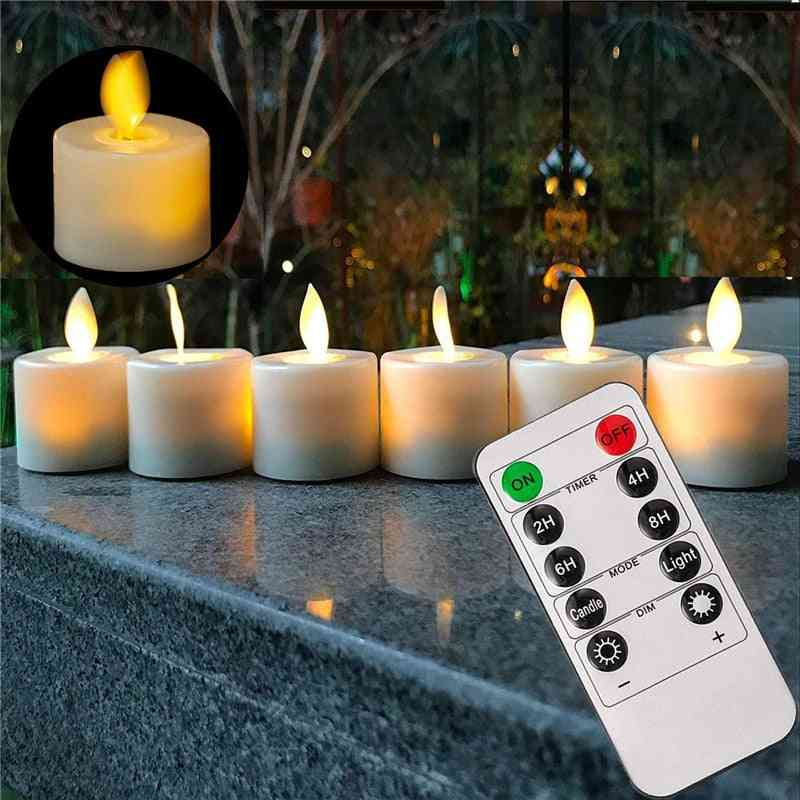 Pack Of 6 Remote Or Not Remote Led Warm Flameless Candle