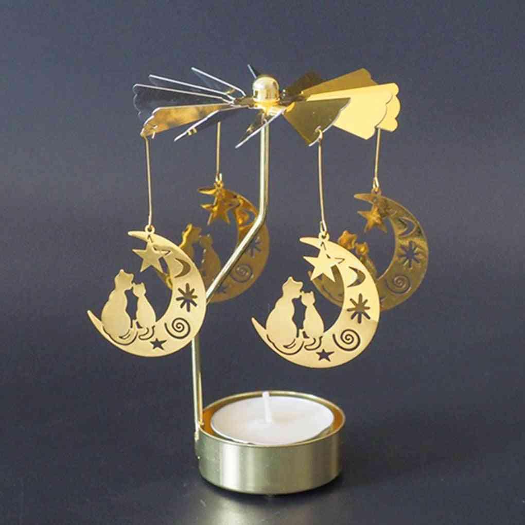 Romantic Rotation, Spinning Carrousel, Tea Light, Candle Holder