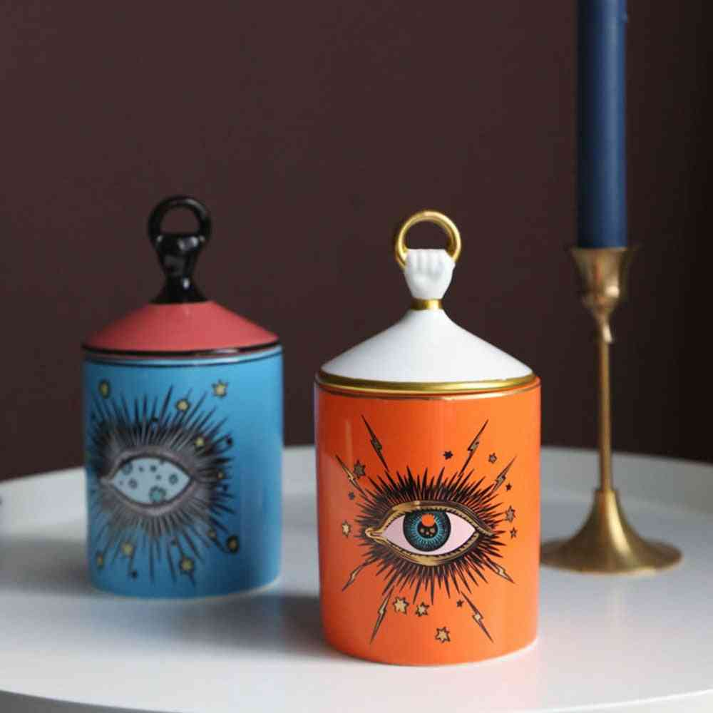 Big Eye Jar, Starry Sky Incense, Candle Holder With Hand Lid