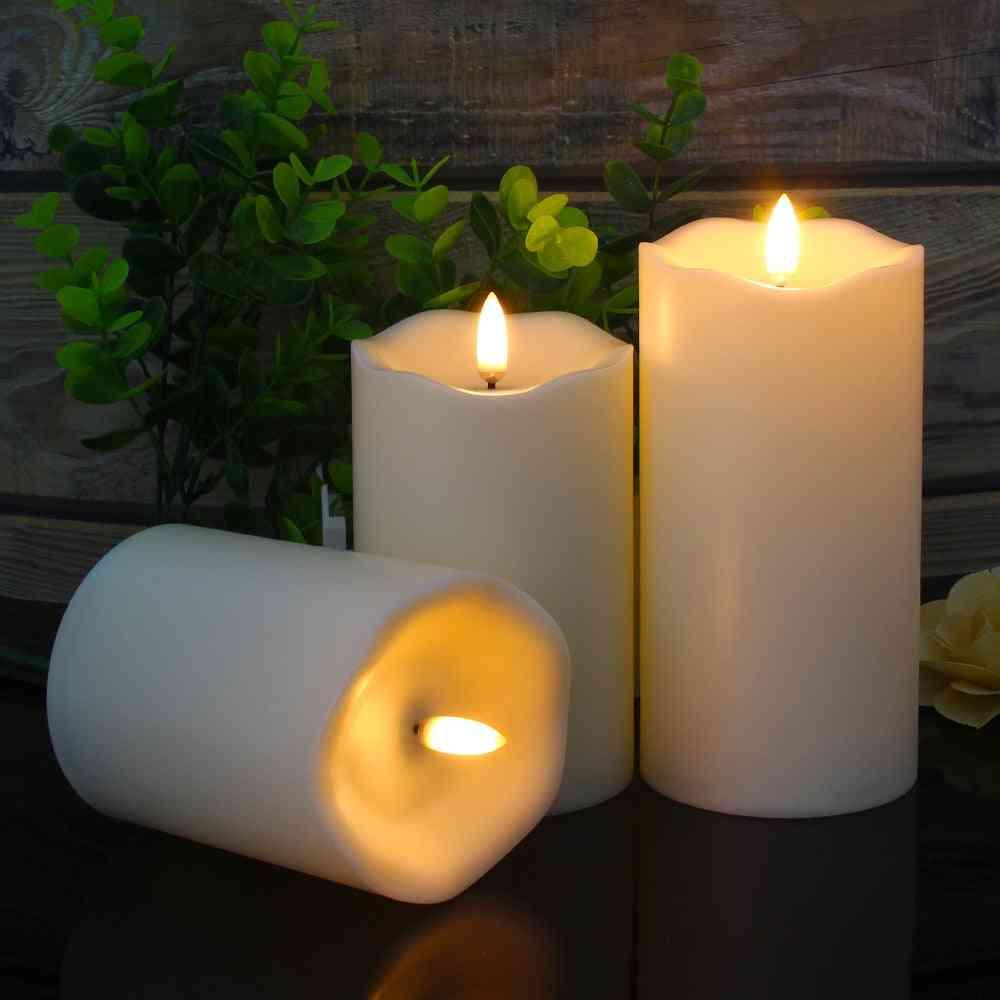 3pcs Remote Control Led Flameless Candle Light