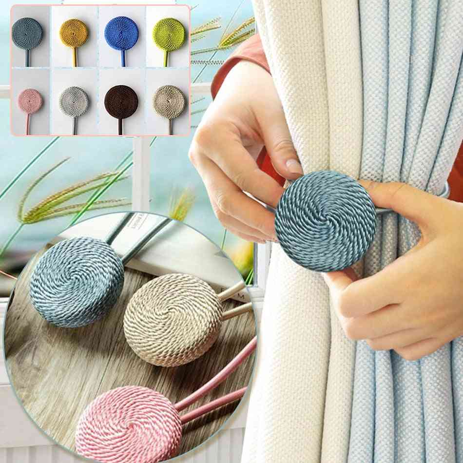 1 Pcs Magnetic Home Decorative Curtain Buckle Rope Tieback