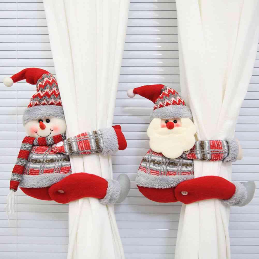 Cute Cartoon Christmas Curtain Buckle Decorative Accessorie