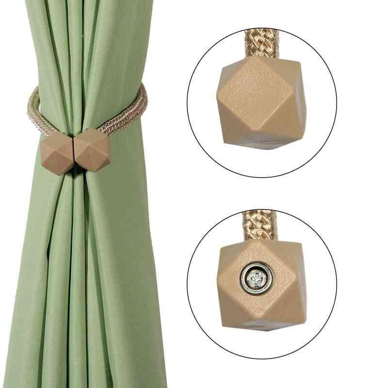 2pcs Magnetic Decorative Holdback Curtains Tie Back