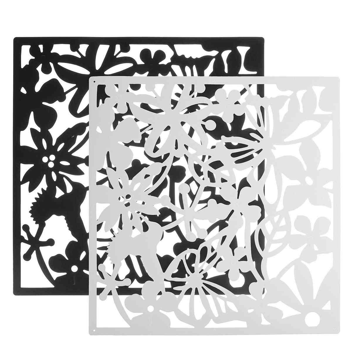 12 Pcs Butterfly Bird Flower Hanging Screen Partition Divider Panel Room Curtain