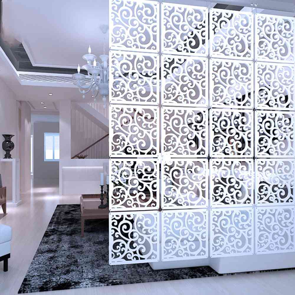 12 -piece Hanging Screens Living Room Partition Wall Wood Plastic Yarn