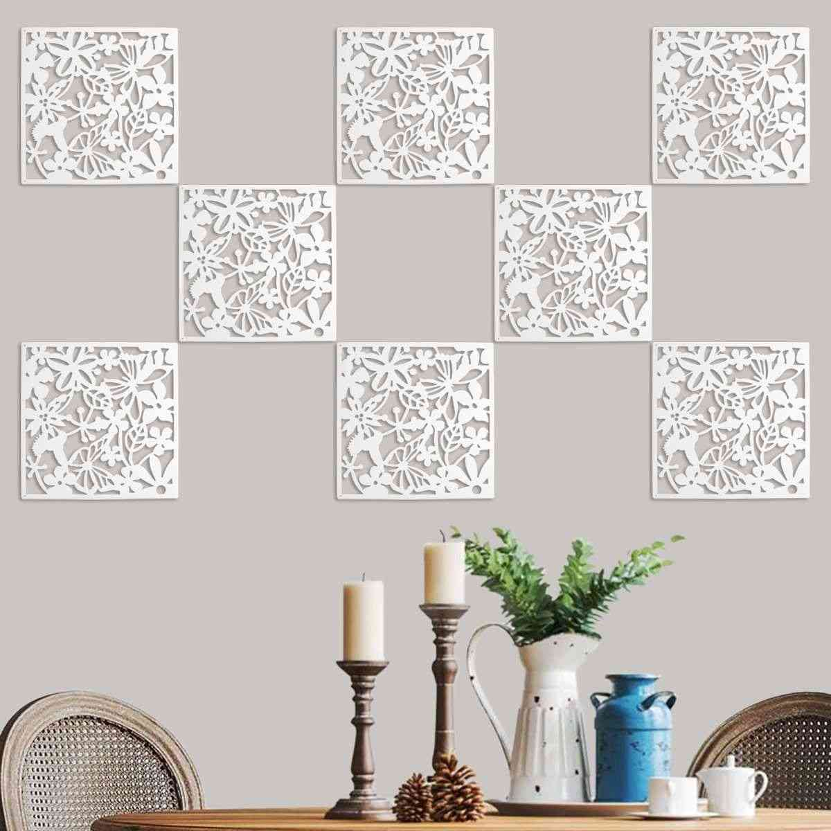 12 Pcs Butterfly Bird Flower Hanging Screen Partition Divider Panel Room, Curtain