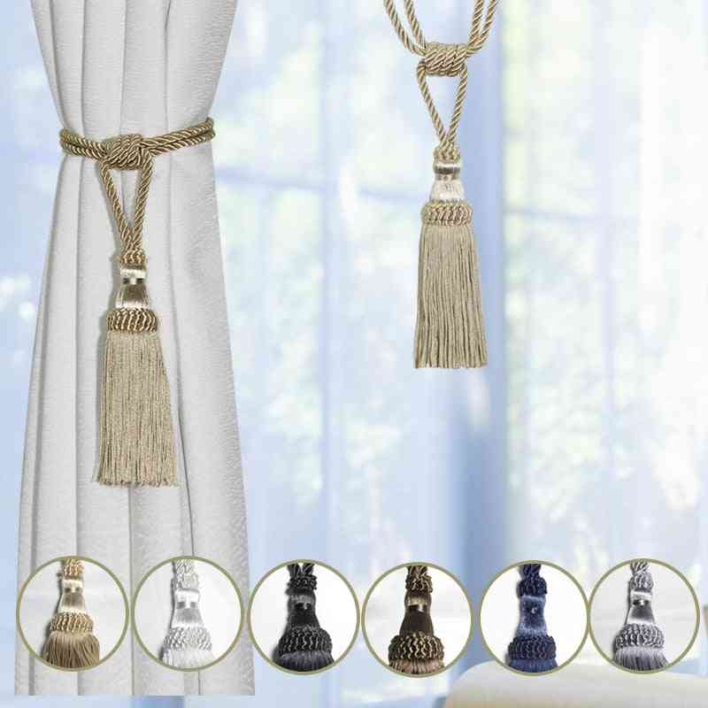 1pc Curtain Tassel Tiebacks Curtain Clips, Holdbacks Holder Accessories