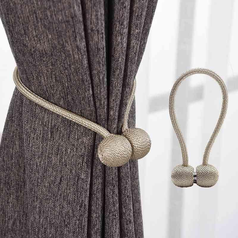 2pcs Magnetic Pearl Ball Curtain Tiebacks Tie Backs