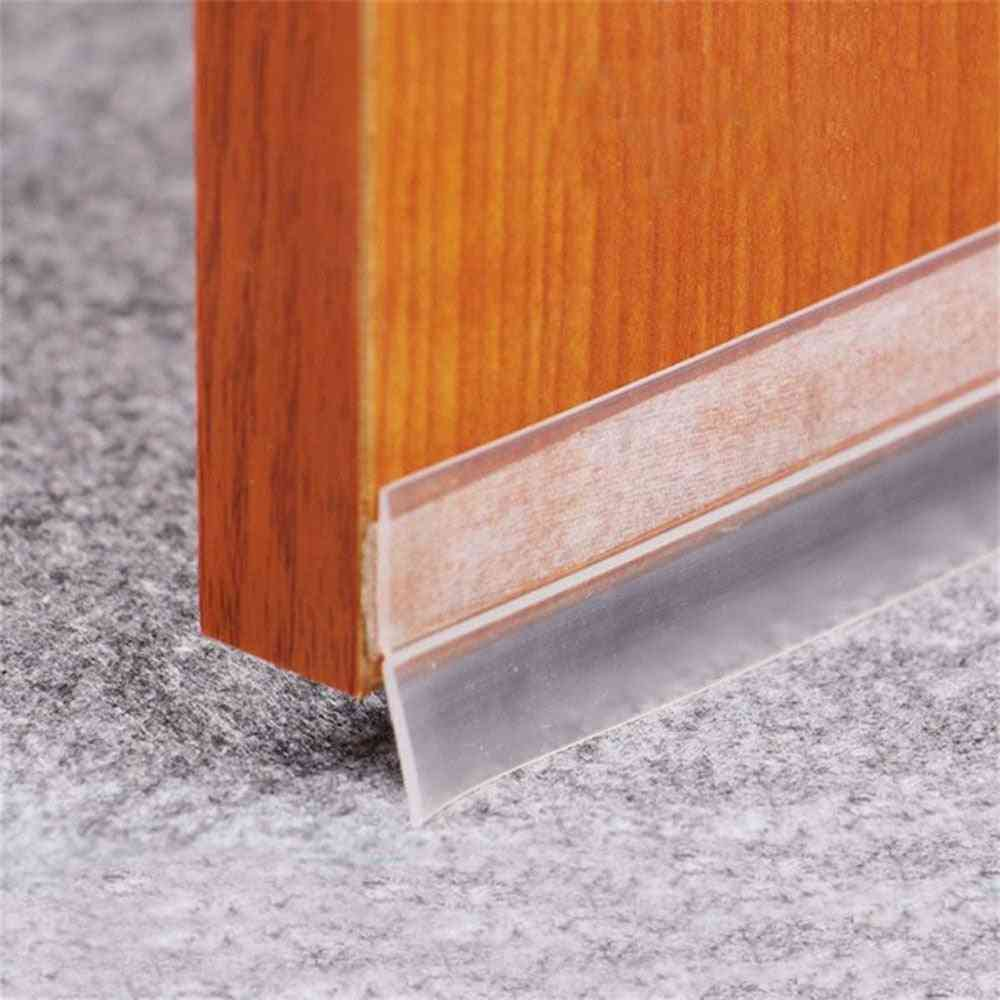 Door And Window Seal Sound Insulation Strip Self-adhesive Silicone Strip Glass (clear)