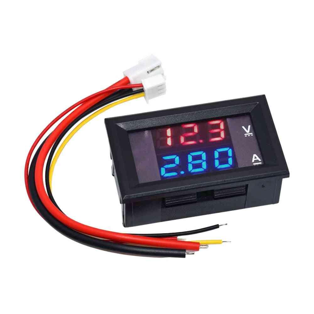Digital Voltmeter Ammeter Dual Display Voltage Detector Current Meter Panel