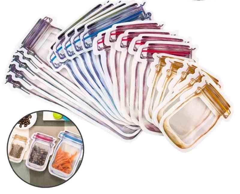 Portable Mason Jar Bags- Reusable Seal, Food Saver, Storage Organizer