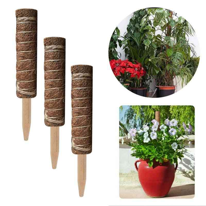 Coir Moss Totem Pole Stick For Creepers Plant Support Extension Climbing Indoor Garden