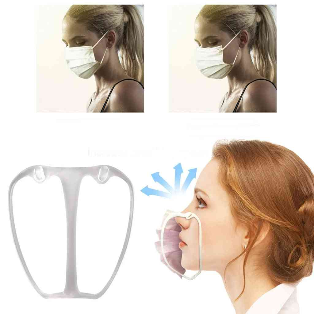 Food Grade Silicone 3d Mask Bracket Holder Accessories Breathing Smoothly Increases Space