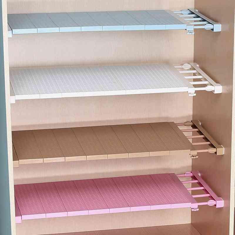 Adjustable Closet Organizer, Storage Shelf, Wall Mounted Kitchen Rack