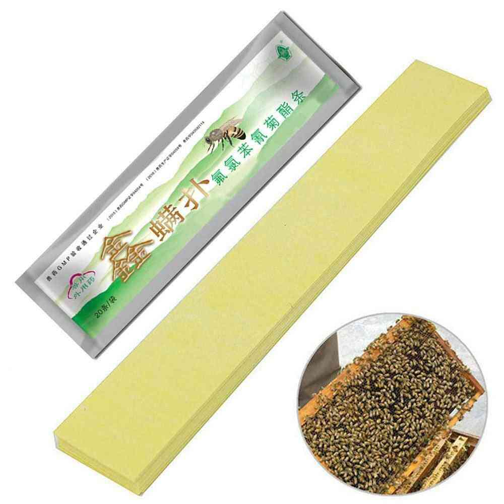 20pcs/pack Fluvalinate Strips Anti Insect Pest Controller Instant Mite Killer Tool (a-20 Strips)