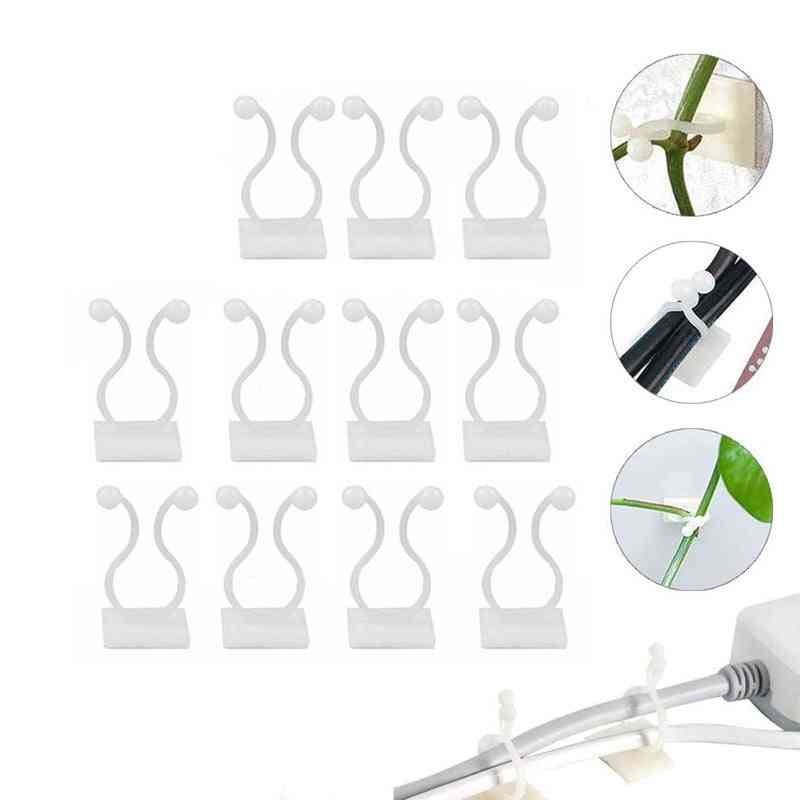 Invisible Wall Vines Fixture Sticky Hooks Plant Fixer Climbing Clip Fixture (white)