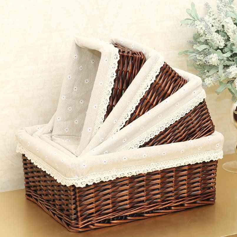 Handmade Rattan Storage Baskets
