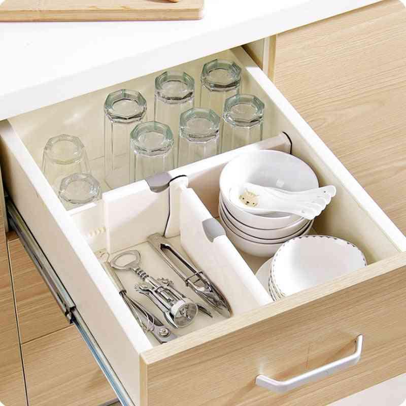 Divider Retractable Adjustable Organizer Storage Drawer