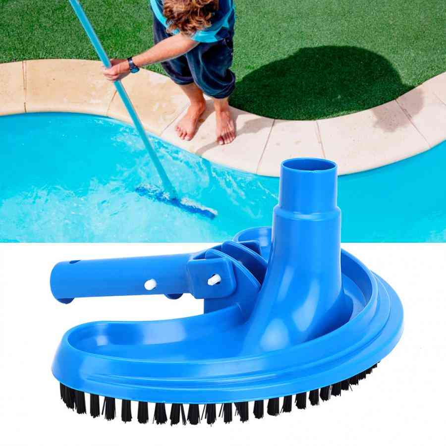 Swimming Pool Suction Vacuum Head, Brush Cleaner, Half Moon, Flexible Curved Cleaning Tool