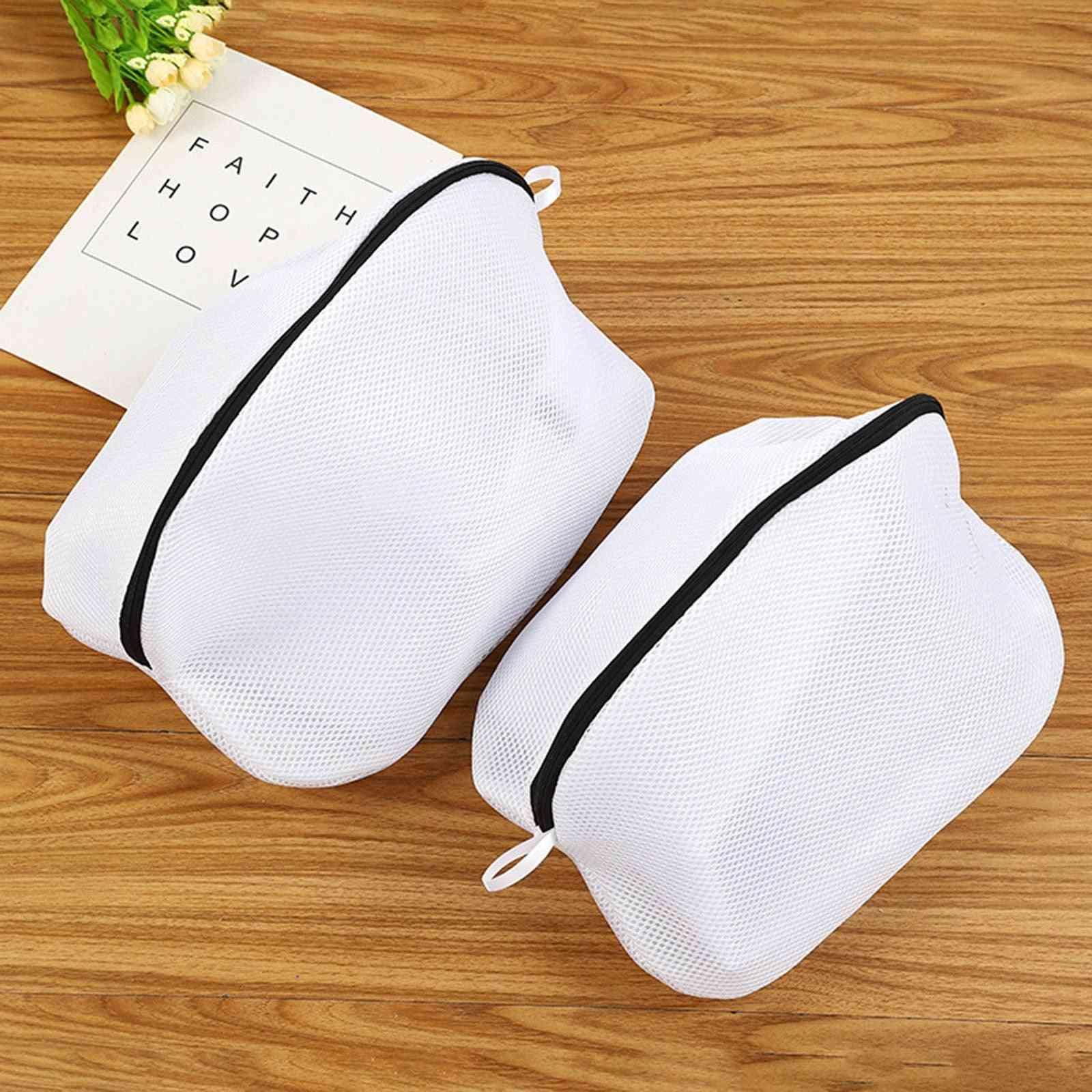 25# Women Bra Underwear Lingerie Laundry Washing Bags Hosiery Saver Bras Protector Mesh Clothes Sock Washing Aid Net Zip Bags