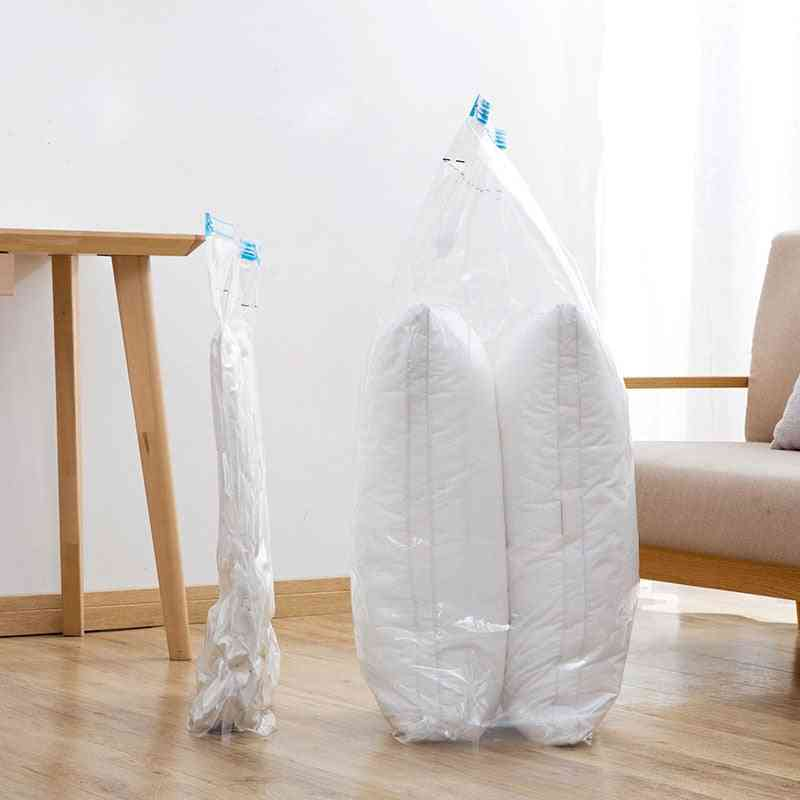 Foldable Border Sealed Transparent Pumping Vacuum Hangable Jackets Dust Cover Organizer