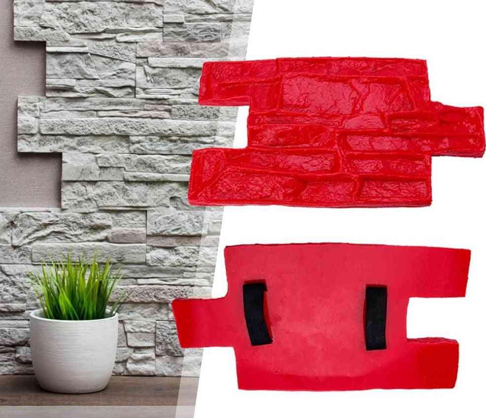Polyurethane Molds For Concrete Garden, House Decor, Texture Wall, Floors, Cement, Plaster Stamps Model Mold
