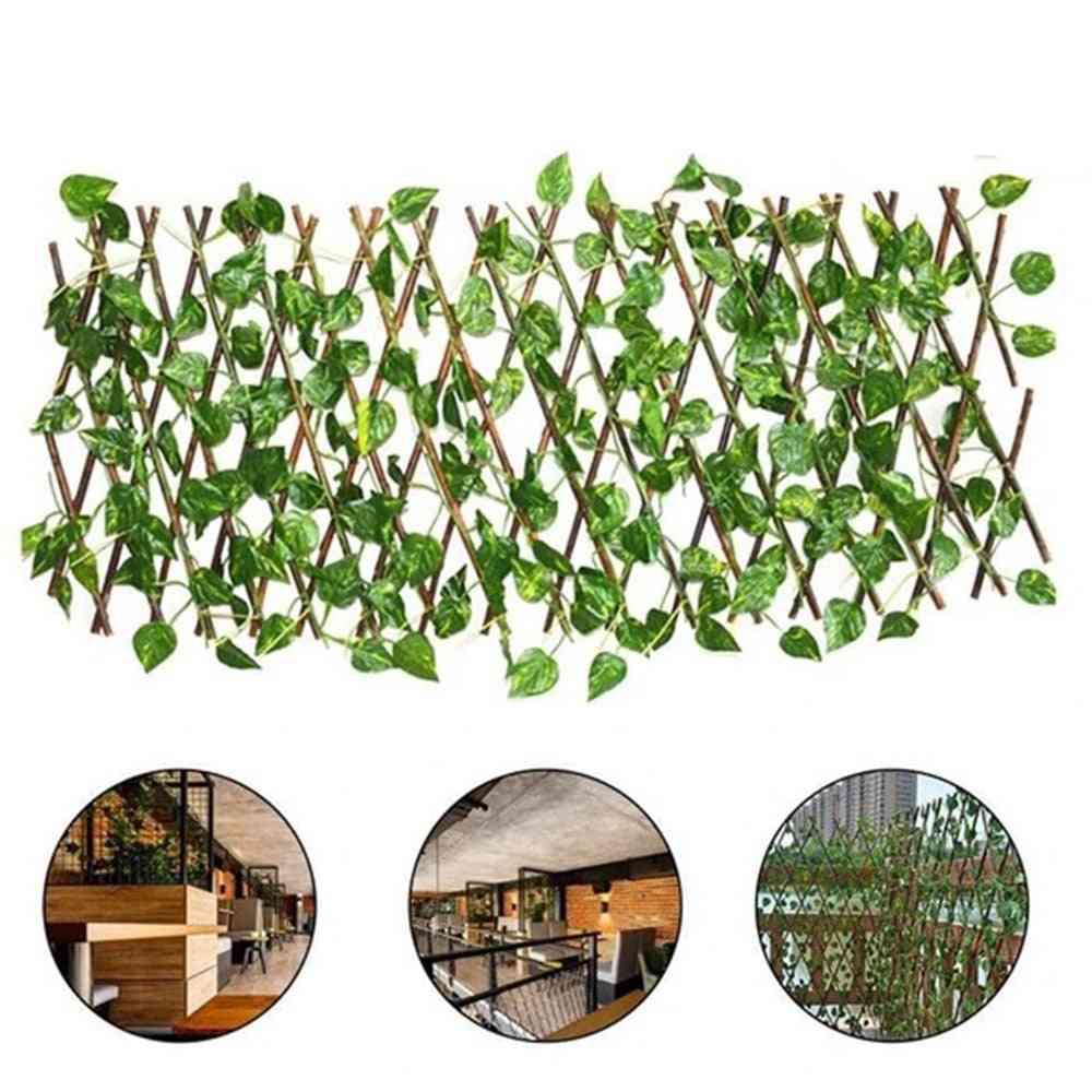 Retractable Artificial Garden Expandable Faux Ivy Fence