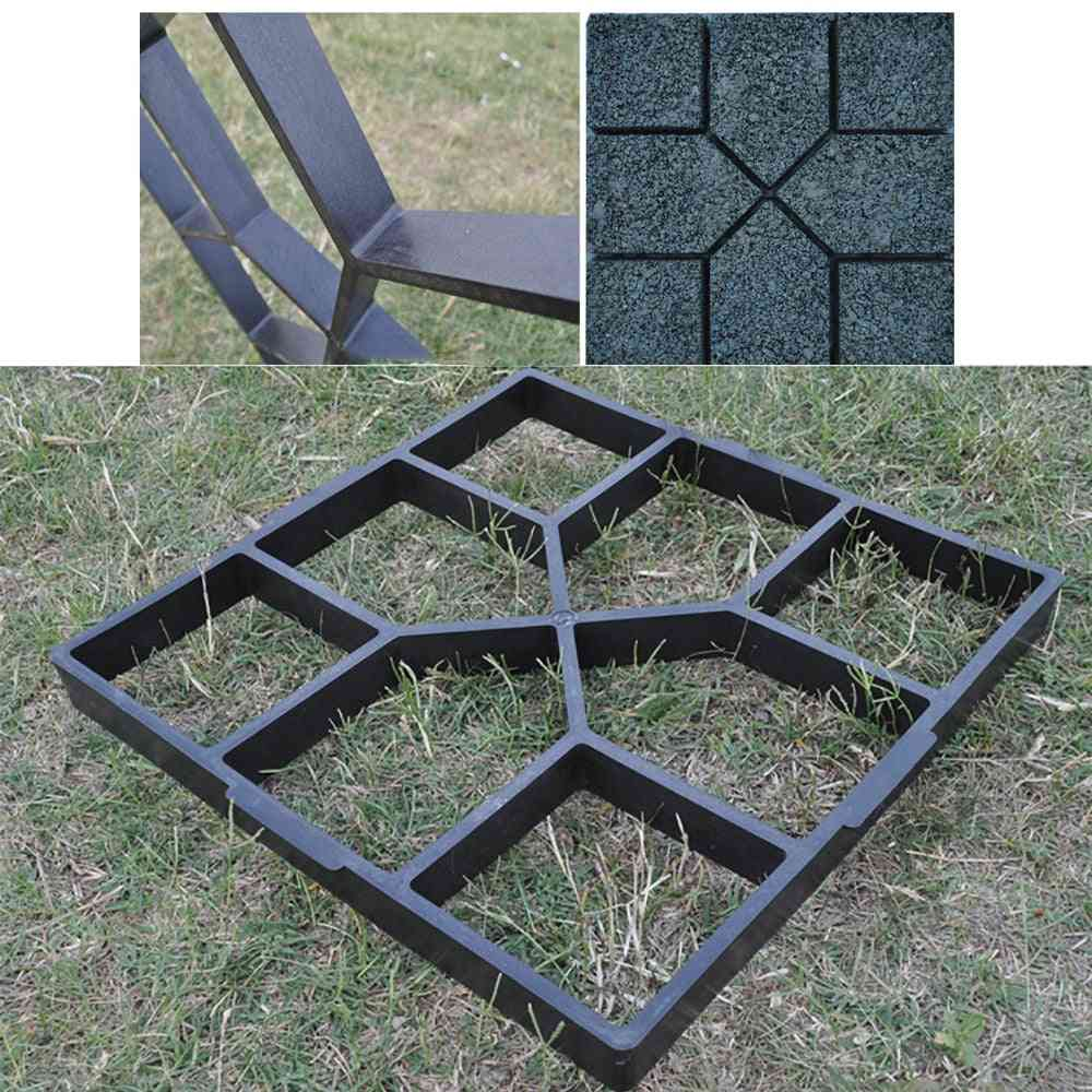 Garden Walk Pavement Diy Manually Paving Cement Brick Stone Mold