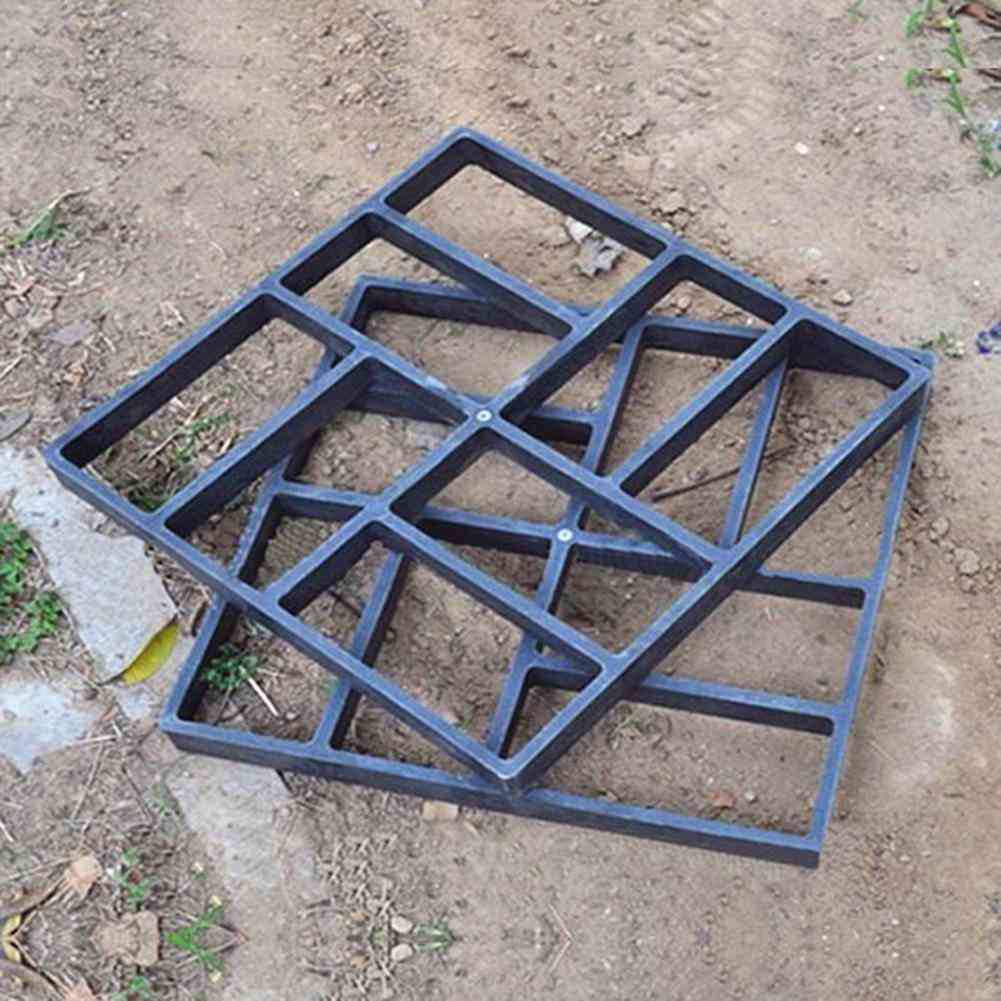 Plastic Making Pavement Mold - Home Garden Stepping Driveway Path Maker