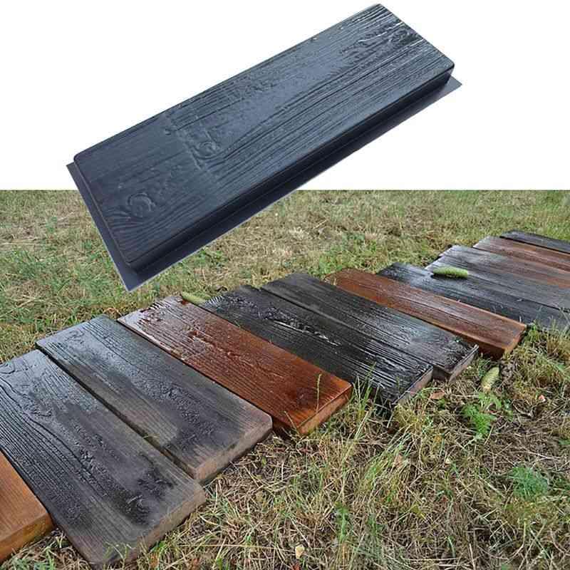 Imitation Wood Grain Diy Path Maker Paving Cement Brick Mold