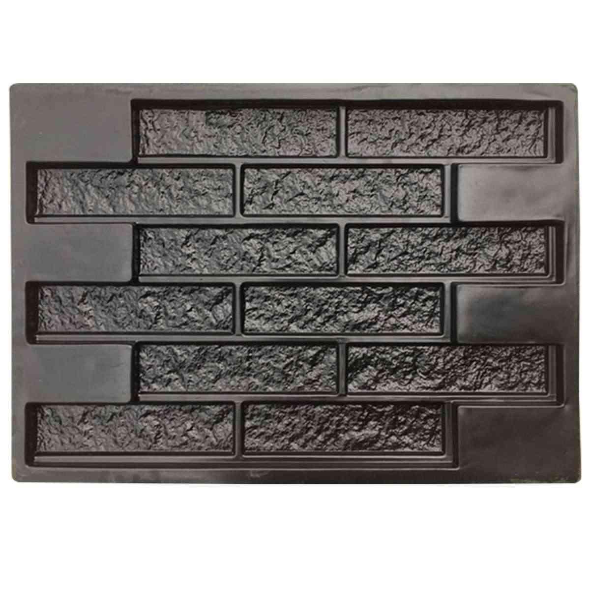 Plastic Concrete Plaster Garden House Wall Stone Mould