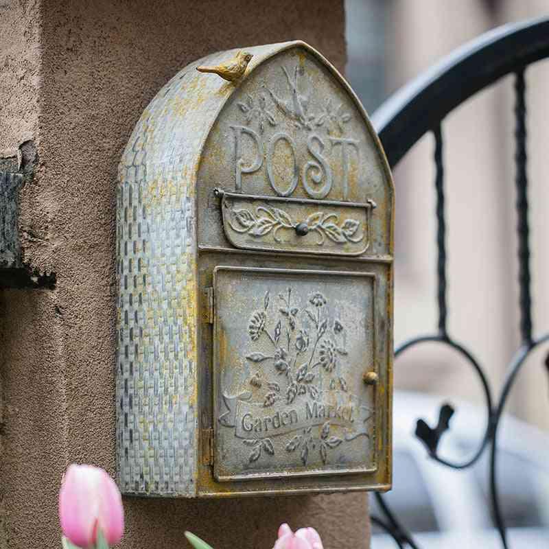 Outdoor Wall Vintage Metal Post Box